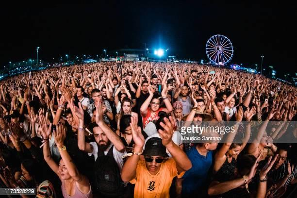 Crowd during day 4 of Rock In Rio Music Festival at Cidade do Rock on October 3, 2019 in Rio de Janeiro, Brazil.