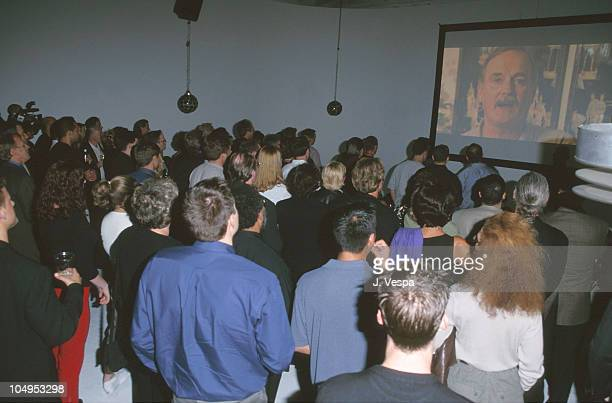 Crowd during Quantum Project Premiere The First Internet Feature Film Made Specifically for Download Sale on the World Wide Web at Miauhaus Studio in...