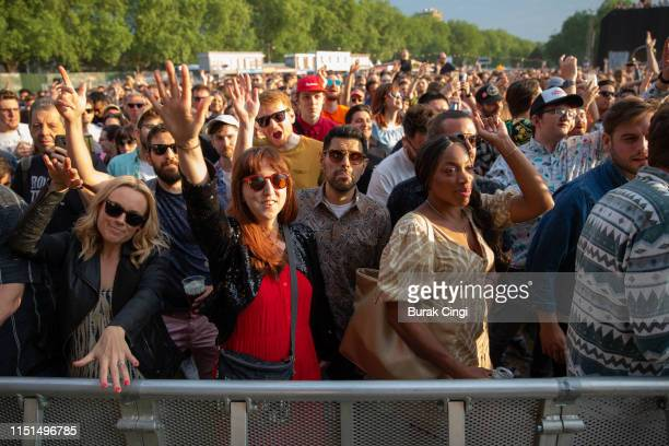 Crowd during the All Points East Festival at Victoria Park on May 24 2019 in London England