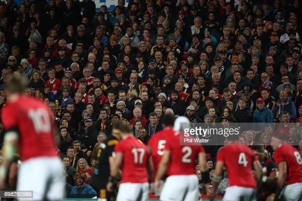 Crowd during the match between the Chiefs and the British Irish Lions at Waikato Stadium on June 20 2017 in Hamilton New Zealand