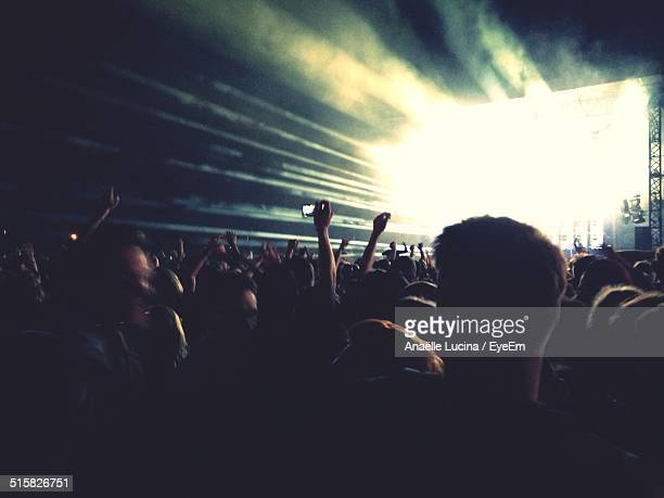 Crowd Enjoying Concert At Night