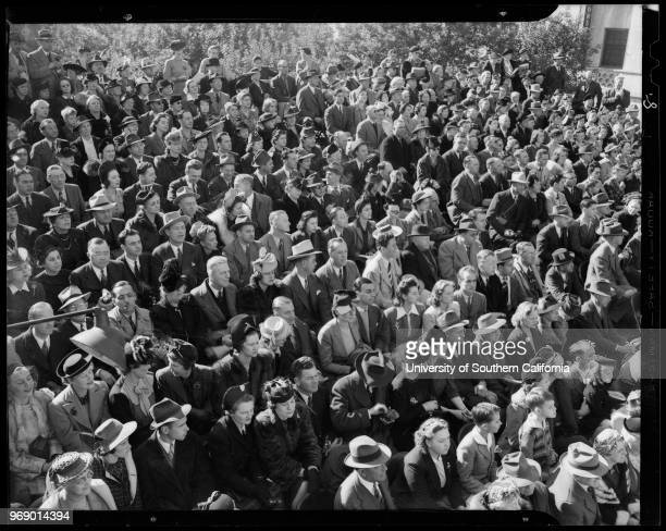 Crowd from General Electric event at the Rose Bowl Jamboree Southern California 1941