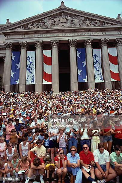 Crowd Gathered for the United States Bicentennial Celebration