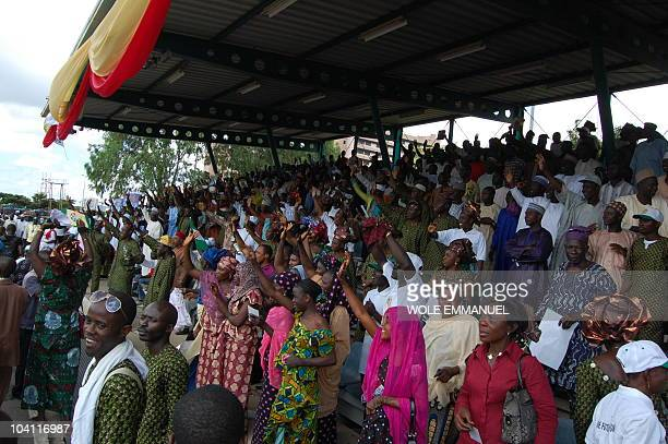 Crowd gathers at the rally for the declaration of General Ibrahim Babangida on September 15, 2010 on Eagle square, Abuja. Former Senat President...