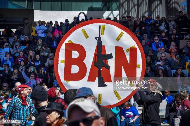 A crowd gathers for the March For Our Lives MFOL rally in the United States capital on Saturday March 24 in Washington DC The demonstration which is...