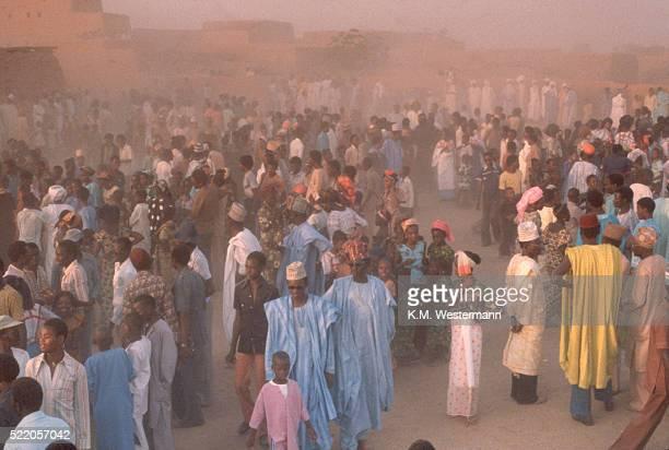 Crowd in Agadez Marketplace