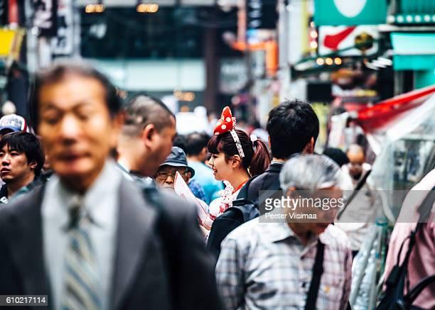 Crowd in Akihabara Electric Town, Tokyo.