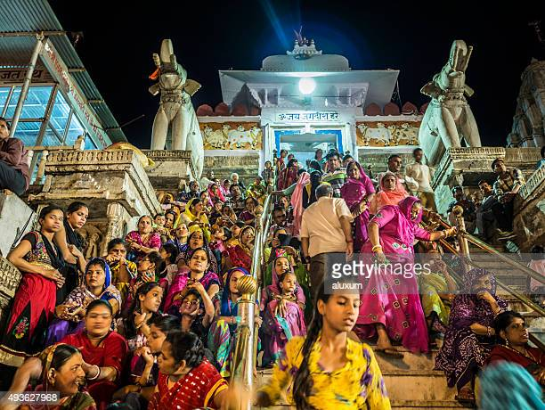 Crowd in the Jagdish temple in Udaipur India