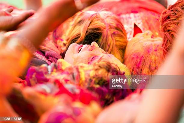 Crowd India Holi Festival Rajasthan