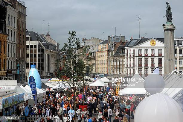 Crowd is seen during the annual Braderie de Lille on August 31 2013 in Lille France The Braderie de Lille is one of the largest flea market in Europe...