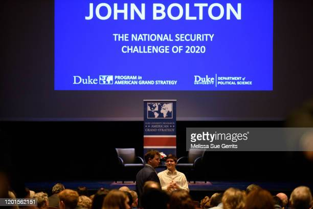 A crowd joins to hear former National Security Advisor John Bolton will discuss the current threats to national security during a forum moderated by...