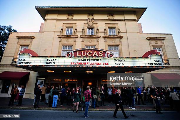 A crowd leaves a dissussion between Alec Baldwin and James Toback after the screening of the movie Barry Lyndon during the 14th annual Savannah Film...