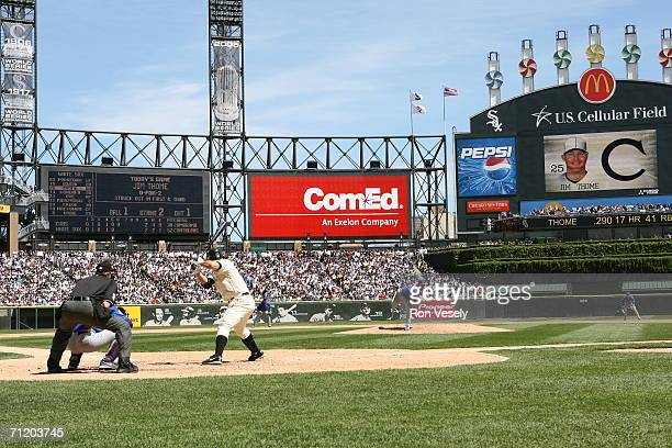 A crowd of 38645 enjoys the game at US Cellular Field home of the Chicago White Sox in Chicago Illinois on May 21 2006 The Chicago Cubs defeated the...