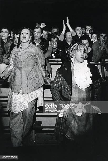 A crowd of Adam the Ants fans including Jordan UK 1980's