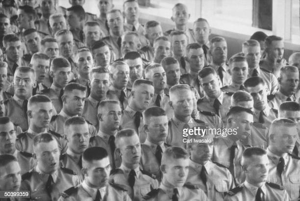 Crowd of cadets at the new Air Force academy
