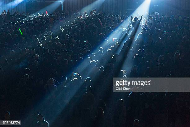 A crowd of Chinese youths cheer as DJ Benny Benassi plays at the Storm Music Festival a gathering of big names in electronic music in Shanghai China...