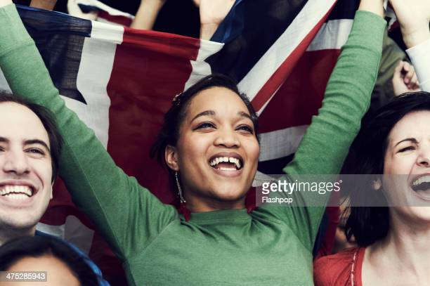 crowd of england fans at sporting event - sport venue stock pictures, royalty-free photos & images