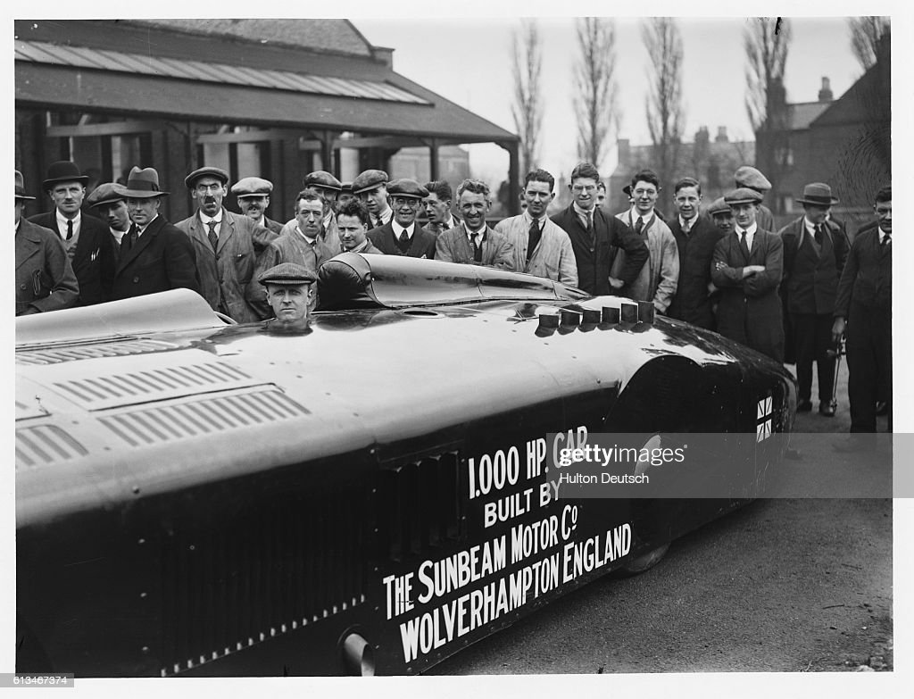 Major Segrave in Sunbeam Racecar : News Photo