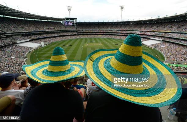 A crowd of over 90000 packed into at the Melbourne cricket ground in Melbourne on the first day of the 4th Ashes cricket Test match between Australia...