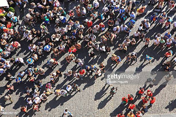 Crowd of People at Old Town Square, Prague