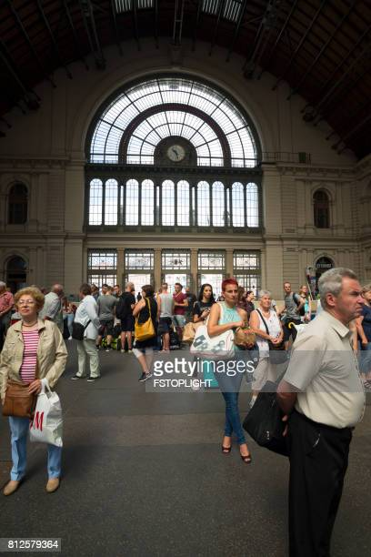 crowd of people in train stationtravel like a local - brief - fstoplight stock photos and pictures