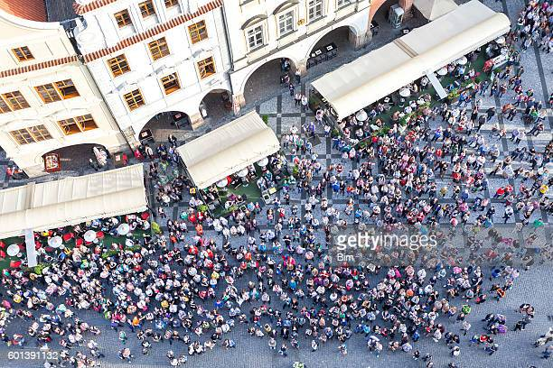 Crowd of People, Old Town Square, Prague, Czech Republic