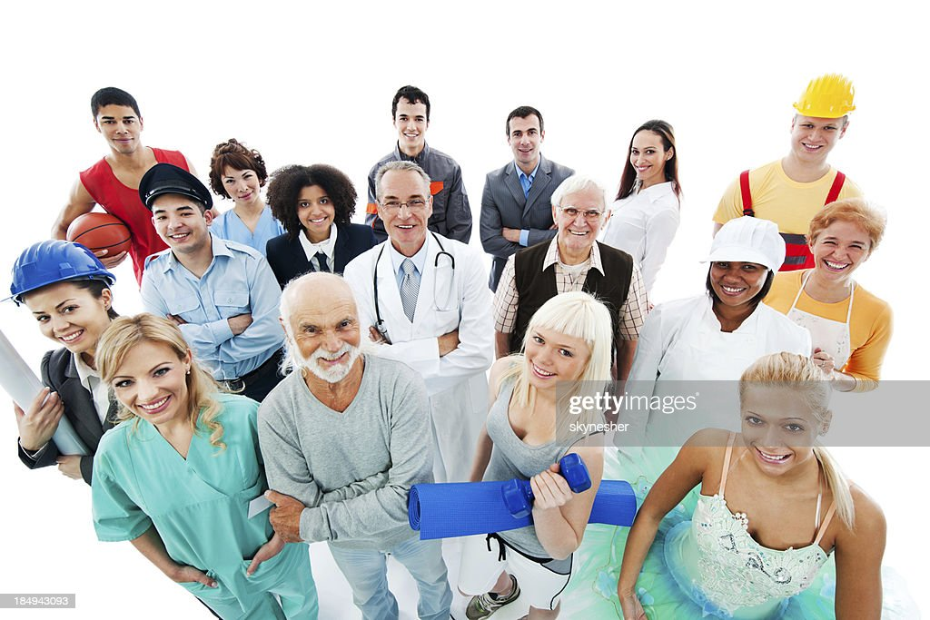 Crowd of  people on a Various Occupations. : Stock Photo