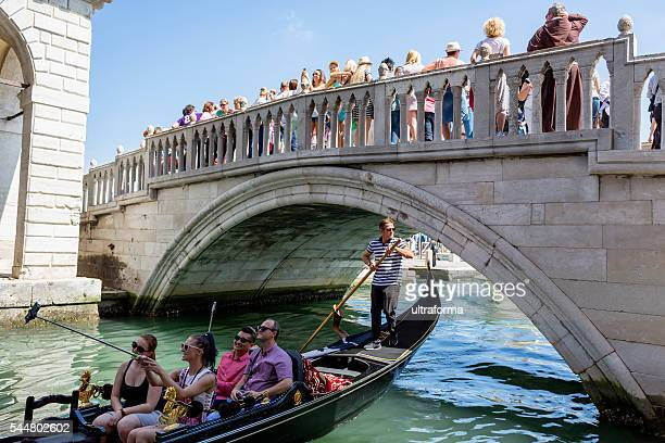 Crowd of people on Riva degli Schiavoni in Venice