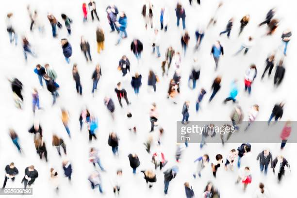 crowd of people - motion blur stock photos and pictures
