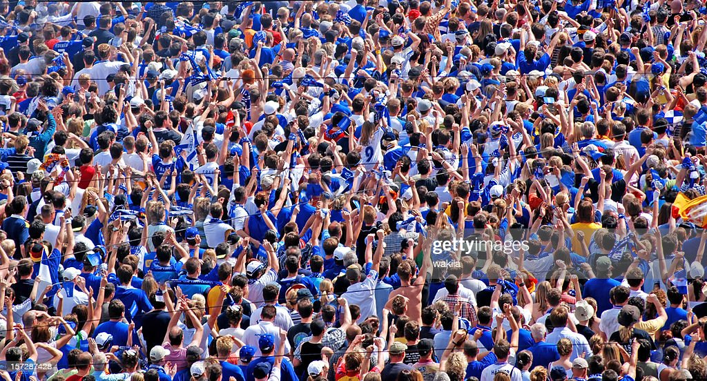 crowd of people - Soccer Fans : Stock Photo