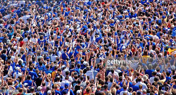 crowd of people - soccer fans - chicago musical stock pictures, royalty-free photos & images