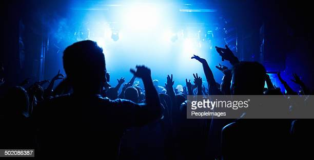 music brings us together! - nightclub stock photos and pictures