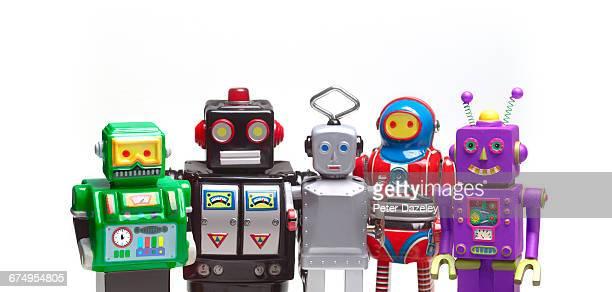 crowd of robots - robô - fotografias e filmes do acervo