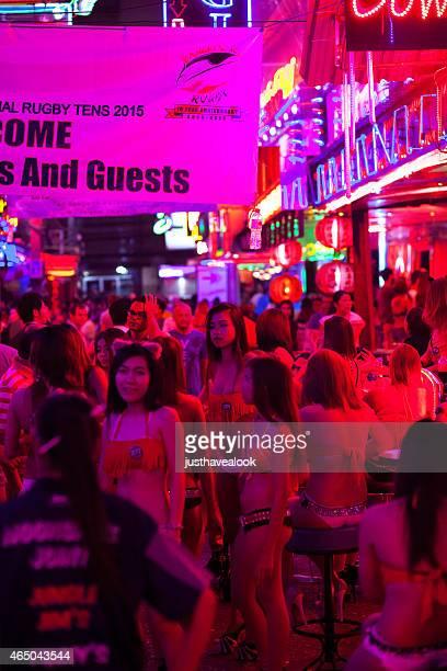 Crowd of sexy Thai girls