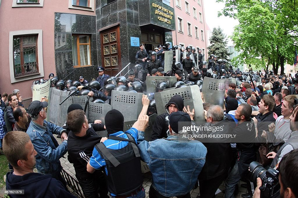 UKRAINE-RUSSIA-CRISIS-POLITICS-DONETSK : News Photo