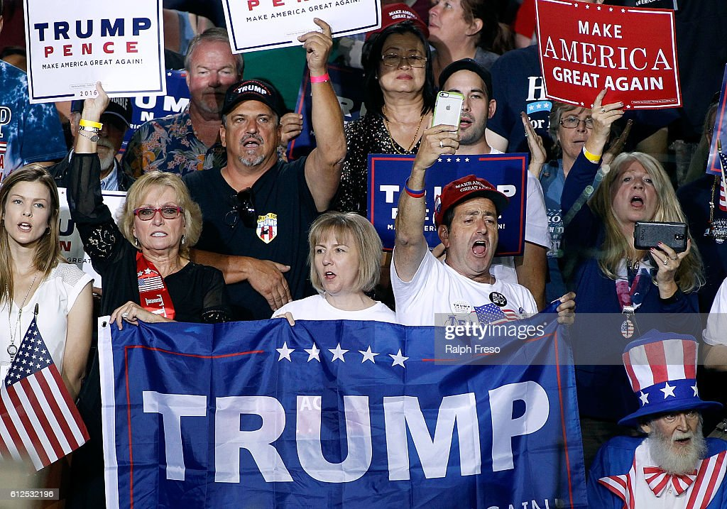 Republican Presidential Nominee Donald Trump Holds Rally In Arizona : News Photo