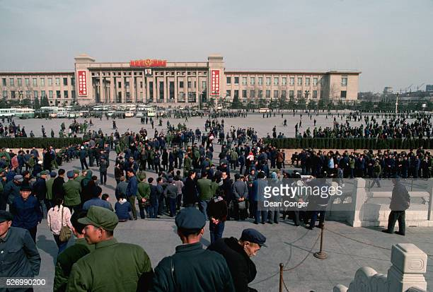 Crowd of Tourists in Tiananmen Square