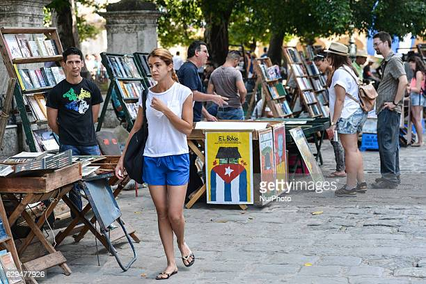 A crowd of tourists seen at the book market The improvment of relations between the USA and Cuba at the beginning of this year started a boom in...