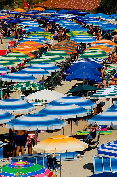 Crowd of umbrellas, beach