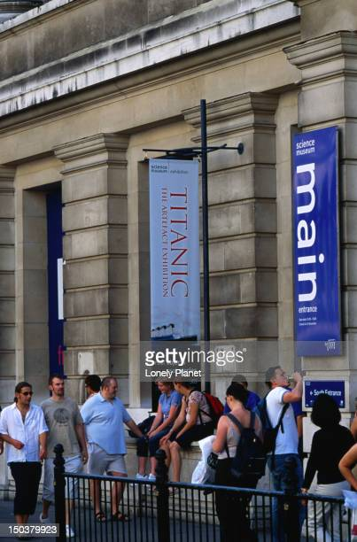 Crowd outside Science Museum.