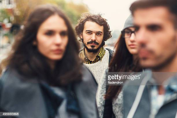 crowd - staring stock photos and pictures