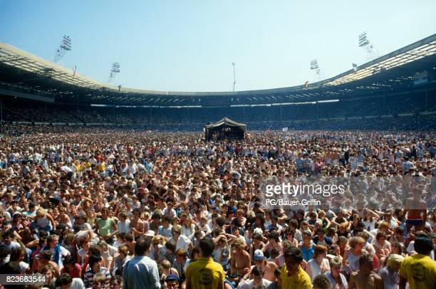 Crowd Scene at Live Aid on July 08 1985 in London United Kingdom 170612F1