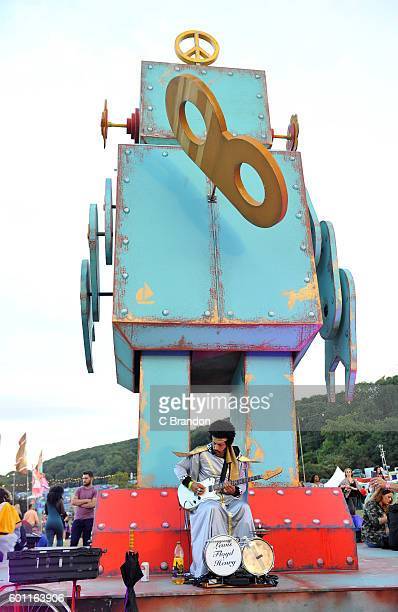 Crowd scene during Day 2 of Bestival at Robin Hill Country Park on September 9 2016 in Newport Isle of Wight