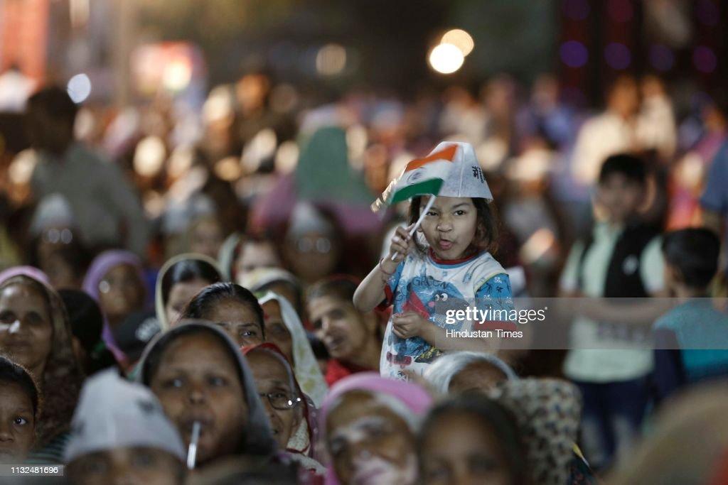 IND: Delhi Chief Minister Arvind Kejriwal Addresses A Public Rally At Malka Ganj