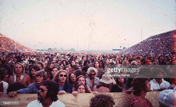 Crowd Shot at Led Zeppelin concert during Led Zeppelin in Concert at Tampa Stadium 551973 at Tampa Stadium in Tampa Florida United States