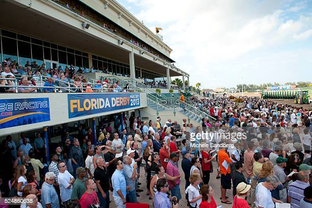 Crowd Shot Gulfstream Park Hosts The 28th Running of The Davona Dale and the 69th Running of The Besilu Stables Fountain Of YOuth Race