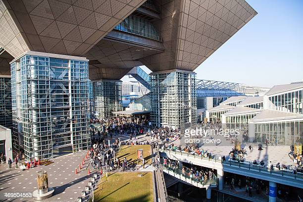 crowd that gathered at the 85th comic market - tokyo big sight stock photos and pictures