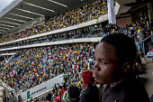 soweto south africa crowd watches from