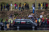 soweto south africa crowd watches funeral