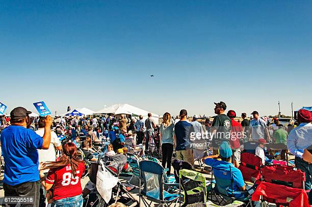 Crowd Watching Air Show at Mather California